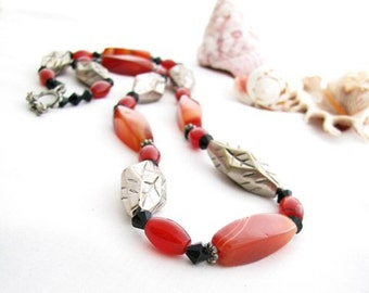 Asian Inspired Gemstone Necklace