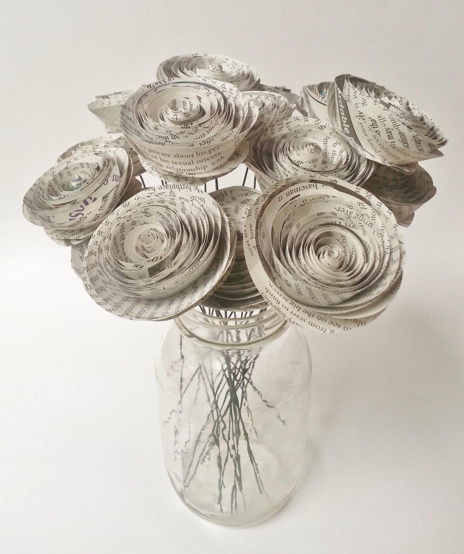 Paper Flower Bouquet Newspaper Flower Bouquet Handmade