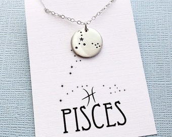 Pisces Jewelry   Pisces Necklace, Zodiac Jewelry, Zodiac Necklace, Constellation Necklace, Astrology Jewelry, Zodiac Sign Necklace, Zodiac