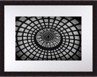 Architecture Photography, Black and White Fine Art Photography, Abstract Wall Art, Chicago Print, Circles, Modern Wall Art