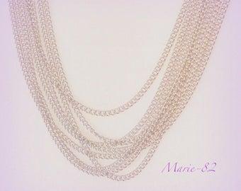 2.50 meters / mesh Style bracelet stainless steel chain