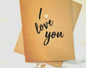 I love you cards | Love cards | Special birthday cards | Anniversary cards | Just because cards | Cards for her | Handmade cards