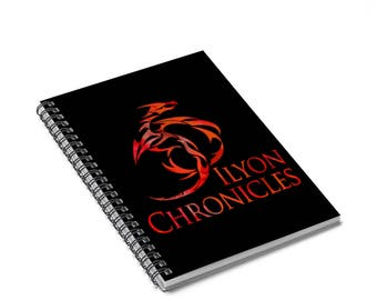 Ilyon Chronicles Red Dragon Spiral Notebook  Ruled Line