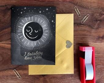 Eclipse Gold Foil Love Card