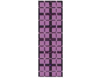BPPI0001 Purple Illusion Even Count Single Drop Peyote Cuff/Bracelet Pattern