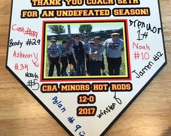 Team Home Plate Plaque