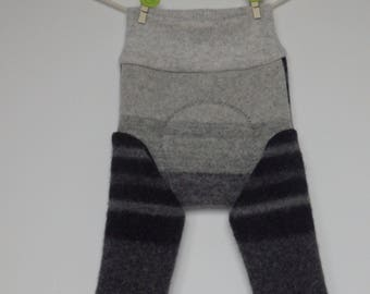 Merino/cashmere baby longies, diaper cover, soaker, size S
