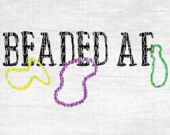 Mardi Gras Svg Cut File - Mardi gras File for Silhouette - Mardi Gras File for Cricut - Mardi Gras Beads Svg Cut FIle - Fat Tuesday Svg