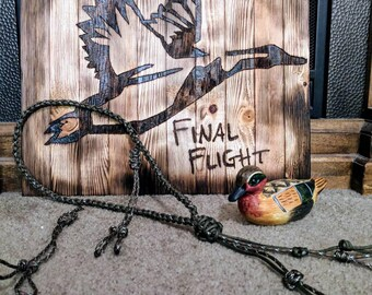 Camo rope braid lanyard