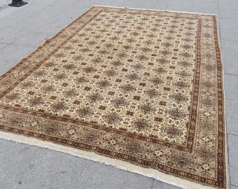 Large turkish rug, oushak Rug , large turkish rug Decorative turkish area rug, 505