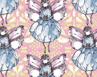 By 1/2 yard ~ Fairy Magic Candy  Color ~ Riddles & Rhymes Collection by Tina Givens, Cotton Quilt Fabric