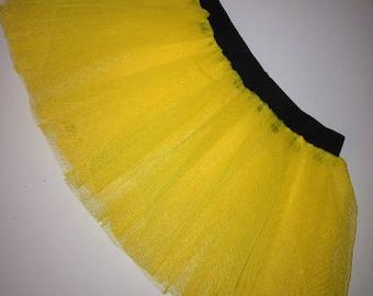 Yellow Tutu Skirt For Dance Party Ruffled Tulle Skirt adult Women Girls Teen Emo Clubwear Halloween