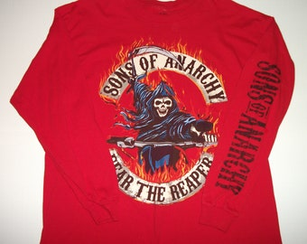 Sons of Anarchy Red Long Sleeve Shirt Size XL