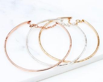 Gold Chain Bangle, dainty bangle, delicate minimal bangle, thin gold bangle, layering bangle