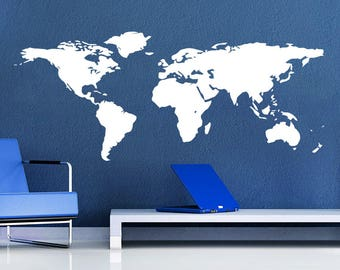 World map decor etsy more colors world map gumiabroncs Image collections
