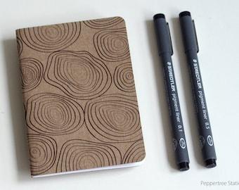 Single Mini Notebook, Rings Design