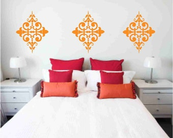 6 Damask Vinyl Wall Decals Sale Item