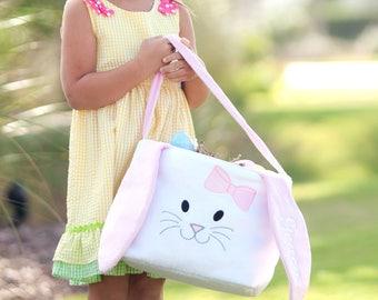 Monogrammed Easter Bucket - Easter Basket - Personalized - Bunny Bucket - Easter Egg Hunt - Monogrammed Easter Basket