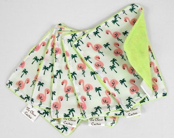 Flamingo Washable Reusable Baby Nappy Diaper Wipes