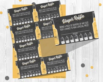 Diaper raffle Inserts, Baby Is Brewing baby Shower, Diaper raffle tickets, Baby Shower games, Printable shower games