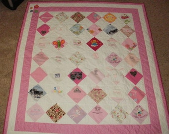 Baby Clothes Memory Quilt for Denise