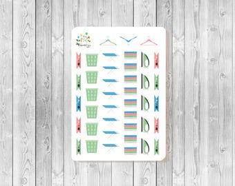 S012  -  41  Laundry Planner Stickers