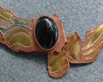 Statement Brooch, Statement pin, Statement Jewelry, Abstract, Organic