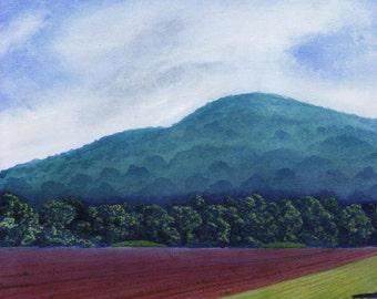 Landscape Art Print Late Spring Field
