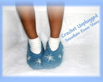 OOAK Child's Snowflake Room Shoes (Slipper Socks)