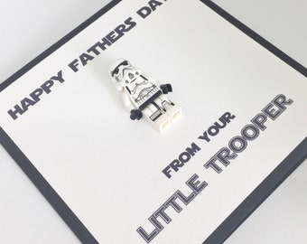 Star Wars Fathers Day Card - Stormtrooper Minifigure