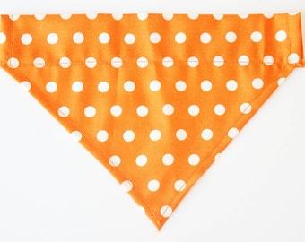 Big Orange Polka Dot Dog Bandana