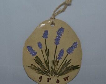 Wall plaque, wall decor, lavender plaque, lavender wall plaque, lavender, garden, wall tile, garden tile