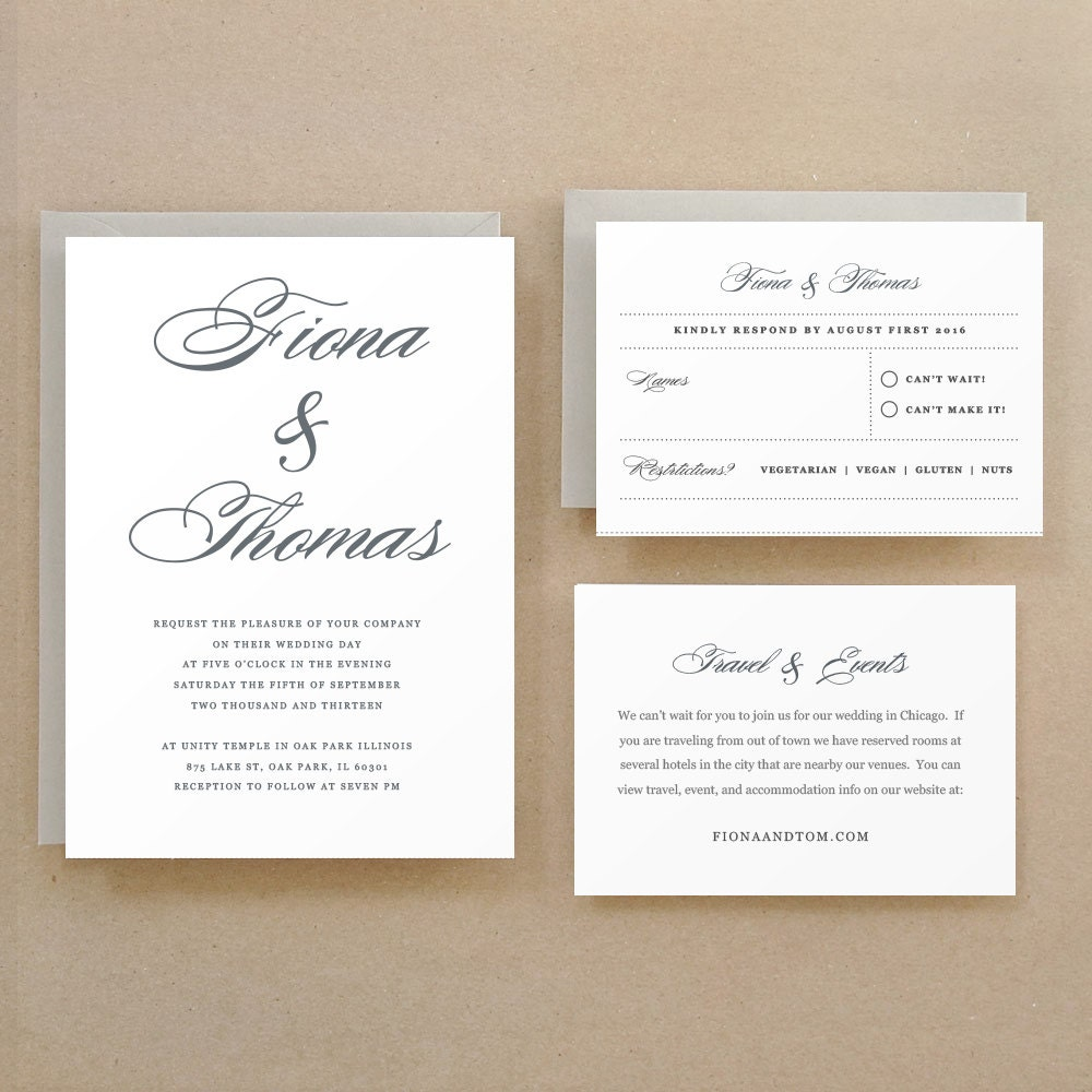 Wedding Invitation Template, Printable Wedding Invitation, Lucky ...