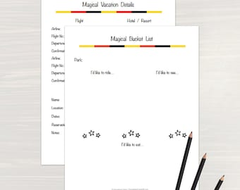 Magical Vacation Planner: Printable Planner, Vacation Planner,  Organizing Printable