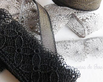 1 x set of fancy, very fine lace ribbons