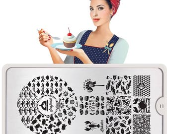 MoYou-London Nail Stamping Plate Frenchy Hipster & Cookbook Collections
