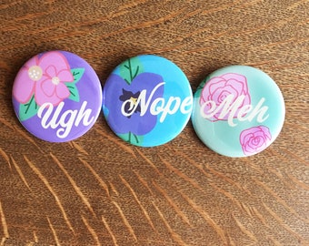 Apathetic Floral Pins