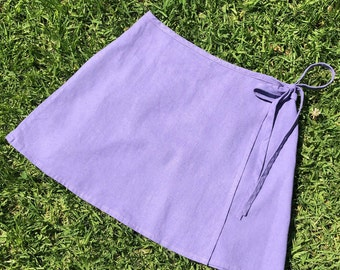 Mini Wrap Skirt in lavender