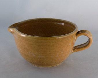 Ceramic Mixing Bowl-Batter Bowl-Bowl With Handle-Pottery Mixing Bowl-Handmade Mixing Bowl-Ceramic Bowl-Cottonwood Creek-Elizabeth Gebert