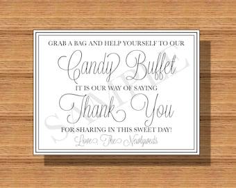 Wedding Candy Buffet Sign DIY Print Ready