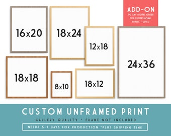 Custom Art Print - Gallery Quality | ADD-ON to any Digital Art Order