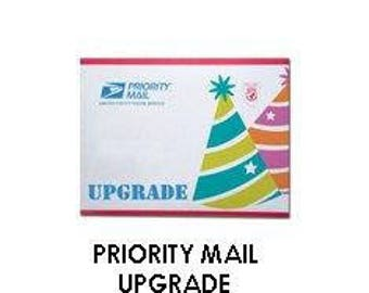 Priority mail upgrade listing.