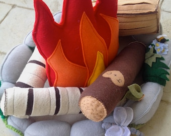 Felt Campfire for Kids and Time Travelers