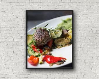 Frikadelle Print / Digital Download / Fine-Art Print / Kunst / Home Decor / Farbe Fotografie / Food-Fotografie / Küche drucken