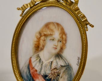 Antique French Miniature Louis XVII Dauphin of France