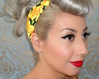 Daffodil Rockabilly Bandana- 1950s vintage inspired - PinUp