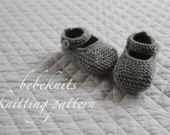 Bebeknits Baby Belle Shoes Knitting Pattern in 3 Sizes