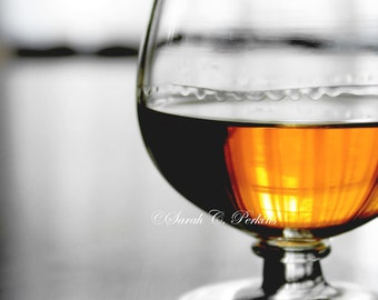 Masculine Wall Decor-Bourbon Wall Decor-Still Life Photo-Fine Art Print-Amber-Copper-Black-White-Whiskey-Study/Office/Bar Wall Decor
