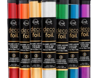 Choice of Foil Transfer Sheets for fabric and paper - Deco Foil