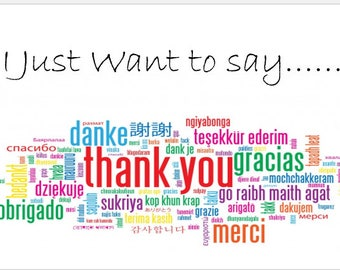 Thank you card with multiple languages